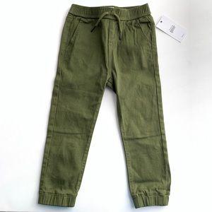 Hudson toddler olive green jogger pants